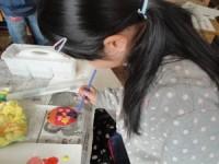 千代田小学校にて絵の授業