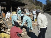 福竹で炭焼体験授業-2