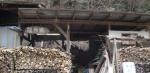 福竹で炭焼体験授業