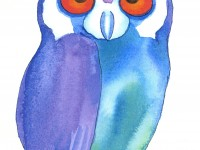 フクロウの絵−3